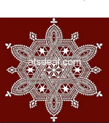 मांडना पारंपरिक रंगोली