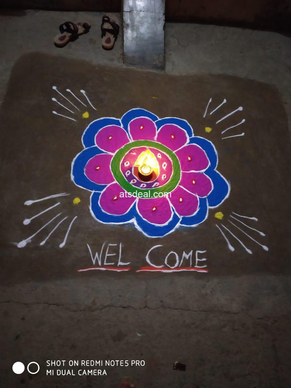 welcome rangoli