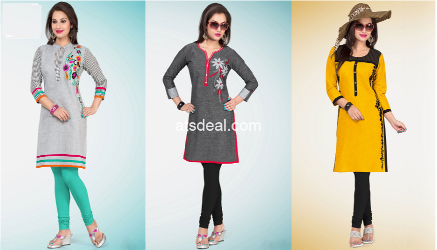 Authentic Fashion Collections of Designer Kurtis Online atsdeal