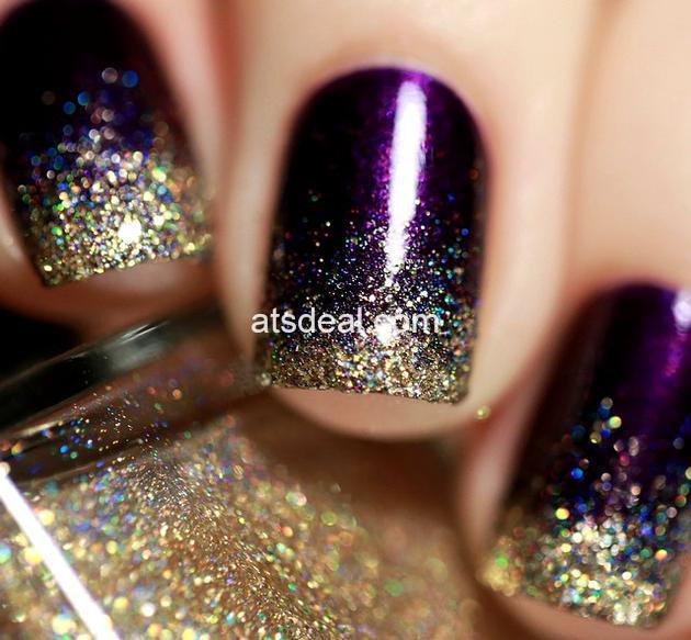 glitter manicure 2019 nail trends