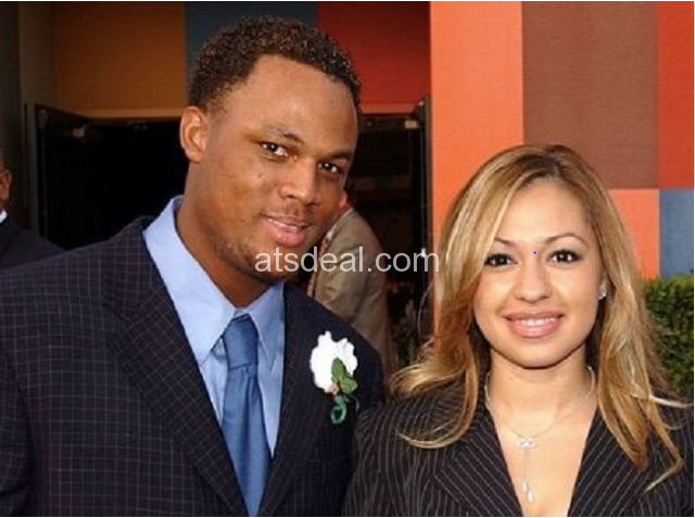 Adrian Beltre and his wife