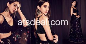 sara ali khan stunning black lehenga